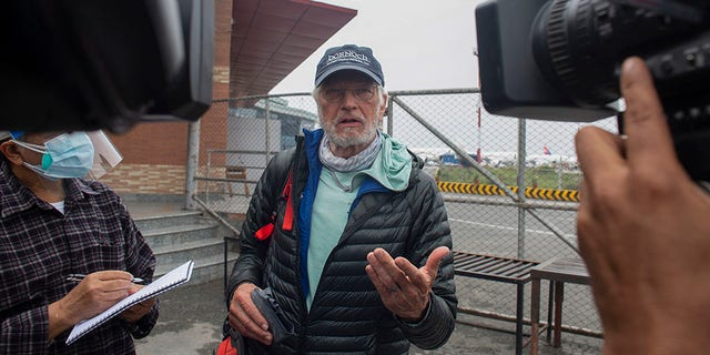 American climber Arthur Muir, 75, became the oldest American to climb Mount Everest earlier this month.  The record was broken by another American, Bill Burke at the age of 67. (AP Photo/Bikram Rai)