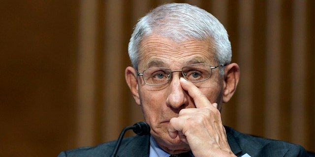Dr. Anthony Fauci, director of the National Institute of Allergy and Infectious Diseases, testifies during a Senate Health, Education, Labor, and Pensions hearing to examine an update from Federal officials on efforts to combat COVID-19, Tuesday, May 11, 2021 on Capitol Hill in Washington. Fauci on Tuesday defended \