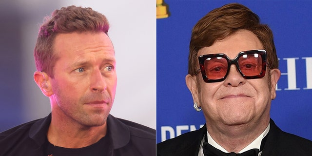 Coldplay's Chris Martin joked that he didn't know anything about Elton John before presenting him with the Icon Award at the 2021 iHeartRadio Music Awards in Los Angeles, Calif.