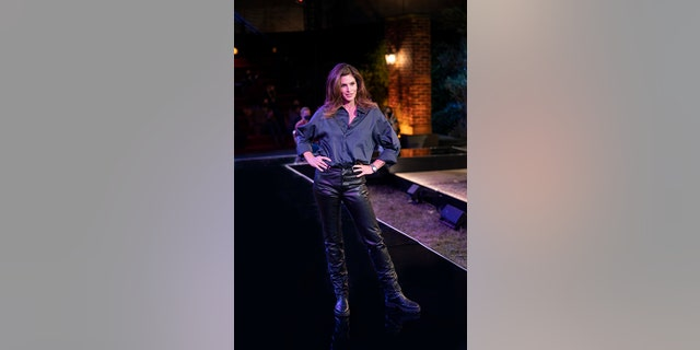 Cindy Crawford wore Ross' famous leather pants during 'Friends: The Reunion' on HBO Max.