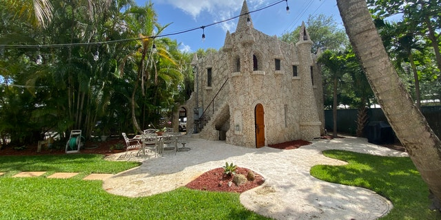 This miniature castle in Fort Lauderdale, Florida, is on the market for $1.75 million. The 882-square-foot home has one bedroom, one bathroom and a new roof.