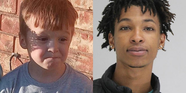 Cash Gernon, 4, was snatched from his bed and brutally stabbed to death over the weekend. Darriynn Brown, 18, right, is facing charges connected to the kidnapping.