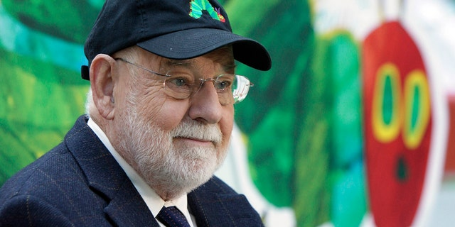 """Author Eric Carle reads his classic children's book """"The Very Hungry Caterpillar"""" on the NBC """"Today"""" television program in New York on Oct. 8, 2009, as part of Jumpstart's 4th annual National Read for the Record Day."""