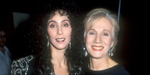 Cher and Olympia Dukakis during The 15th Annual People's Choice Awards at Disney Studios in Burbank, California, United States.