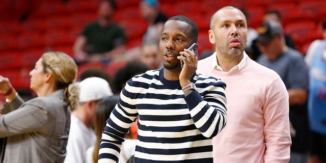 MIAMI, FLORIDA - MARCH 11: Sports agent Rich Paul looks on after the game between the Miami Heat and the Charlotte Hornets at American Airlines Arena on March 11, 2020 in Miami, Florida. The NBA announced tonight the season has been suspended after a Utah Jazz player preliminary tested positive for the coronavirus. (Photo by Michael Reaves/Getty Images)