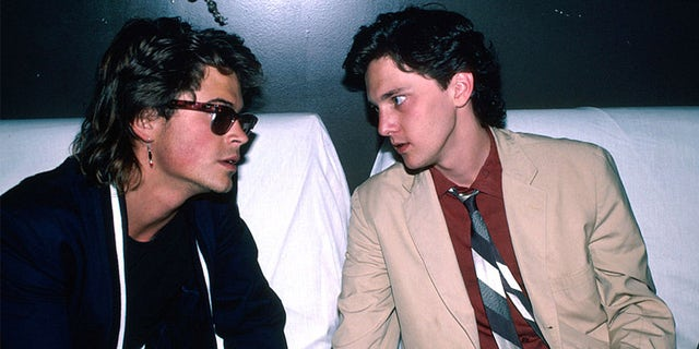(L-R) Actors Rob Lowe and Andrew McCarthy.