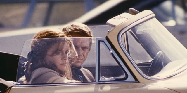 British actress Jacqueline Bisset said she was nervous about driving American star Steve McQueen.