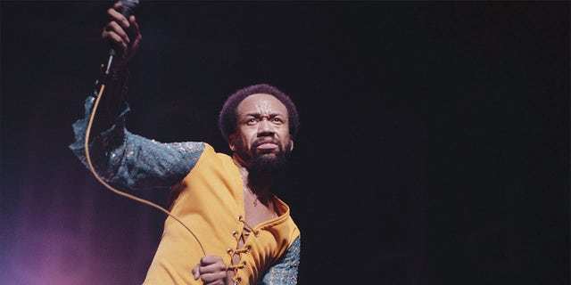 American singer-songwriter and musician Maurice White performing in 1978.