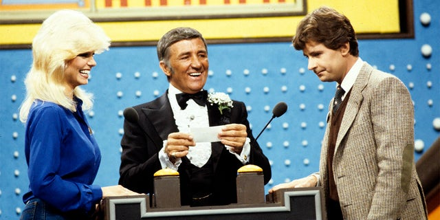 Loni Anderson is no stranger to game shows. Here she is with host Richard Dawson and 'The Love Boat' star Fred Grandy in 'Family Feud,' circa 1979.