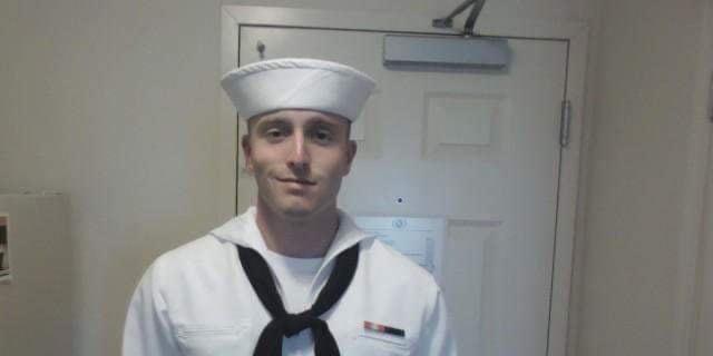 David Bulger (pictured) wearing his U.S. Navy uniform (Photo courtesy of David Bulger).