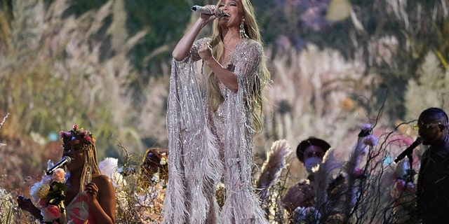 "Jennifer Lopez performs at ""Vax Live: The Concert to Reunite the World"" on Sunday, May 2, 2021, at SoFi Stadium in Inglewood, Calif. (Photo by Jordan Strauss/Invision/AP)"