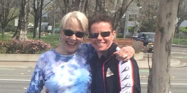 Karen Grassle and her son.