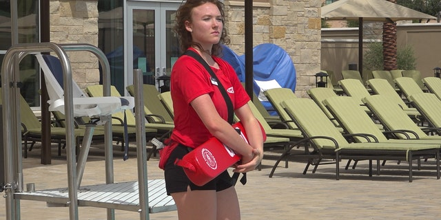Jocelyn Ramey is a seasoned lifeguard and she's no stranger to busy days in the sun. She's been in the industry for four years, this is her first with Life Time (Stephanie Bennett/Fox News).