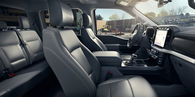 The F-150 Lightning Pro has vinyl seats.