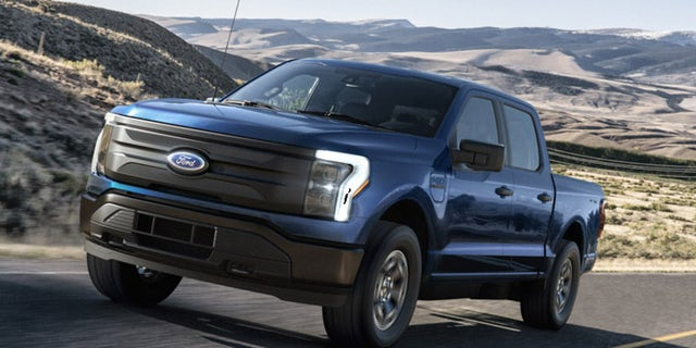 The Ford F-150 Lightning Pro is a commercial-oriented version of the electric pickup.