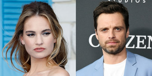 Lily James and Sebastian Stan will play Pamela Anderson and Tommy Lee, respectively, in Hulu's 'Pam & Tommy.'