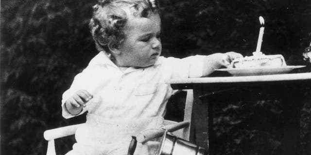 1931: Charles Augustus Lindbergh Jr, son of the American aviator, on his first birthday. A few months later he was kidnapped from his home and murdered. (Photo by BIPS/Getty Images)