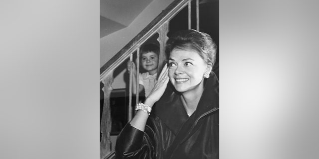 June Lockhart and her daughter.