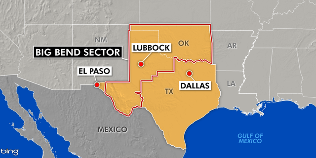 The Big Bend Sector is one of the biggest, covering 165,154 square miles in 77 Texas counties and the entire state of Oklahoma. The sector is responsible for patrolling 517 miles of river along the Rio Grande which is the international boundary between the U.S. and Mexico.