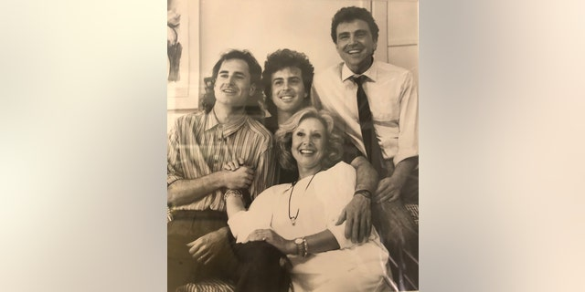 Michael Learned and her sons.