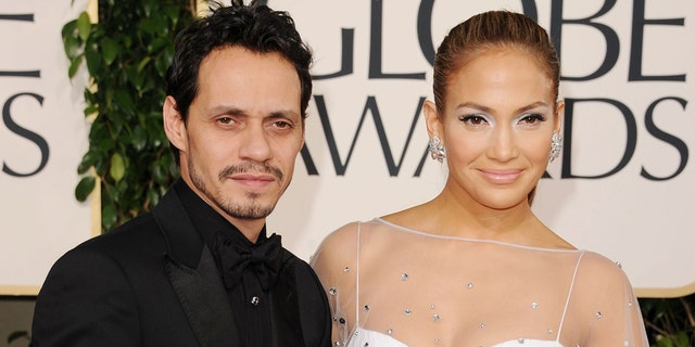 Ex-spouse Marc Anthony and Jennifer Lopez spend time together (Photo by Jason Merritt/Getty Images)