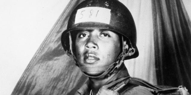 Pfc. Milton Olive III jumped on a grenade to save his fellow soldiers during the Vietnam War. (US Army/PhotoQuest/Getty Images)