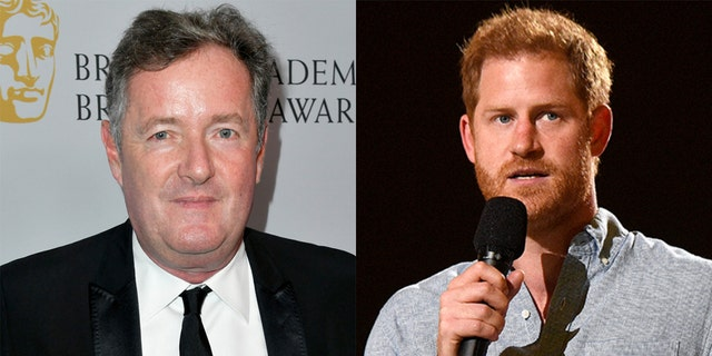 Piers Morgan slammed Prince Harry for comments he made about the First Amendment during a recent podcast interview.