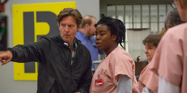 Andrew McCarthy directing an episode of 'Orange Is the New Black.'