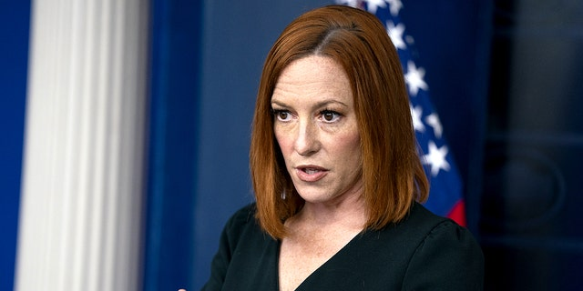 White House press secretary Jen Psaki speaks during a briefing at the White House, Tuesday, May 4, 2021, in Washington. (AP Photo/Evan Vucci)