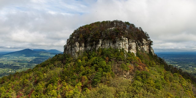 Pilot Mountain, N.C., is named after the iconic mountain nearby. (iStock)