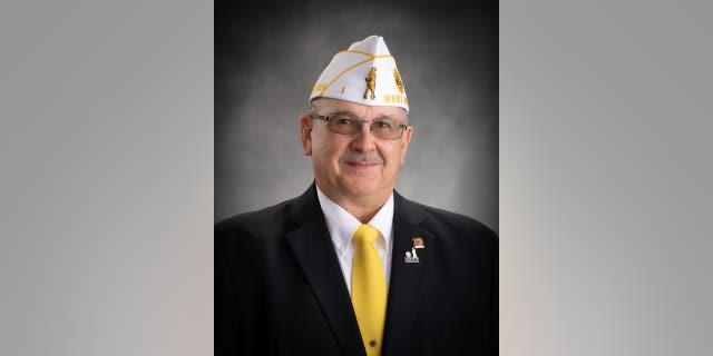 Commander John Powell of the American Legion Department of West Virginia