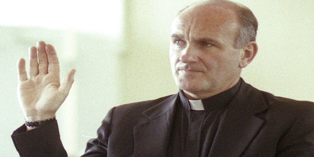 Rev. Richard R. Lavigne, a Roman Catholic priest, pleads guilty in superior court to two counts of indecently assaulting two adolescent boys, in this June 25, 1992 file photo, in Newburyport, Massachusetts. (AP)