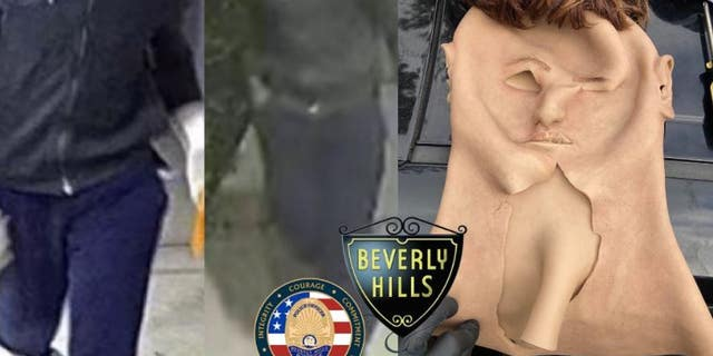 Rockim Prowell, 40, used a life-like mask to disguise himself as a White man while allegedly committing home burglaries in the Los Angeles area.