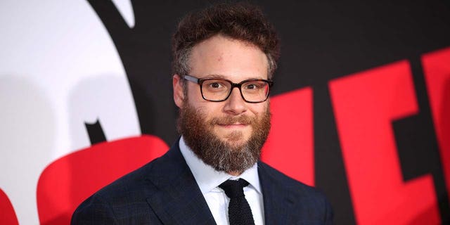 Rogen also recorded peeing into a bottle in front of a security camera.  (Photo by Christopher Polk/Getty Images)