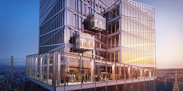 Midtown development One Vanderbilt will soon offer thrill-seekers a fresh way to be scared of New York: an all-glass enclosed elevator on the outside of the building.