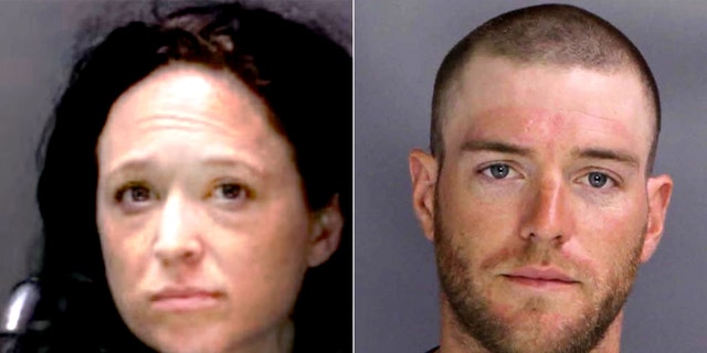 Tara Gallucci and Christopher Weikert were busted after investigators found six fully assembled ghost guns, Nazi paraphernalia and nearly $1 million in methamphetamine in their apartment. (Pennsylvania Office of Attorney General)