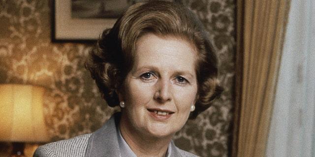 FILE - British Prime Minister Margaret Thatcher (AP Photo/Gerald Penny, File)