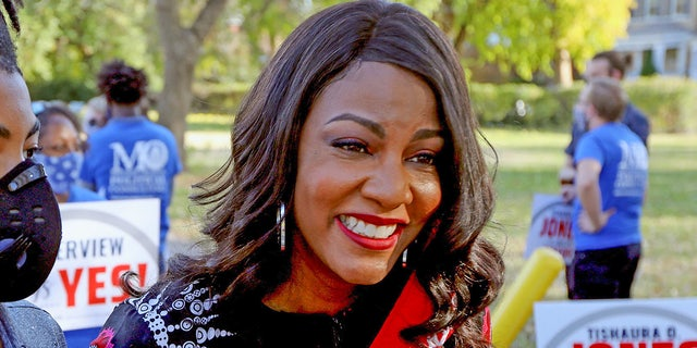 St. Louis' Tishaura Jones, who became the city's first Black female mayor last month, had campaigned on a promise to enact progressive criminal justice reforms. (Laurie Skrivan/St. Louis Post-Dispatch/TNS/ABACAPRESS.COM)