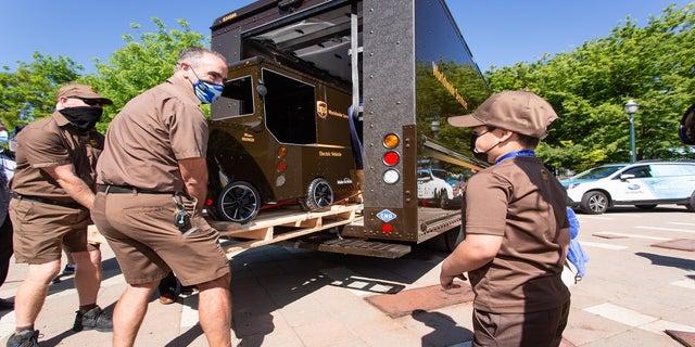 Mateo Toscano getting his own UPS truck in Stockton, California.