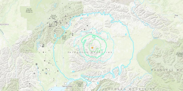 The magnitude 6.1 quake originated at a depth of 27 miles under the Talkeetna Mountains, oor 100 miles north of Anchorage.