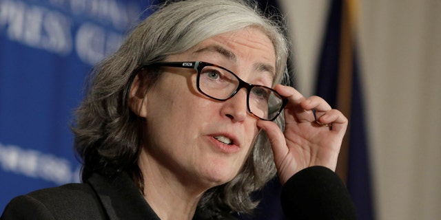 Feb. 11, 2020: Dr. Anne Schuchat, Principal Deputy Director of the Centers for Disease Control and Prevention (CDC) speaks during a news conference to give an update on the CDC's ongoing response to the coronavirus outbreak at the National Press Club in Washington.