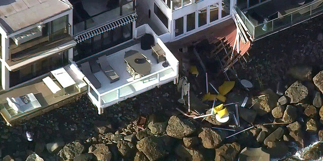 Between four and nine additional people suffered minor to moderate injuries when they fell on the rocks and sand, according to conflicting reports.