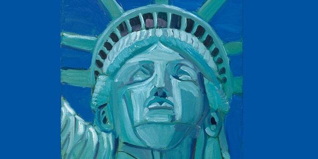 """""""Lueur d'espoir,"""" Peinture du président George W. Bush."""