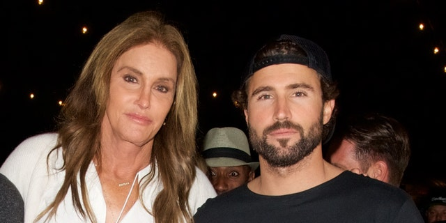 Brody Jenner (R) is trying to avoid questions about his dad, Caitlyn Jenner (L), running for California governor.