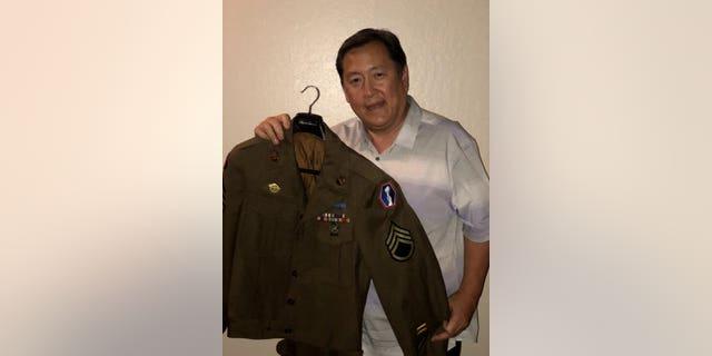 Paul Osaki with the jacket.