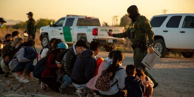 US customs and border agents are detaining migrants found at the southern border of the Yuma, Arizona sector.