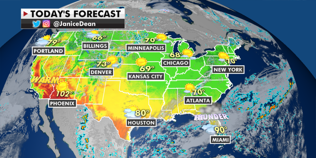 The national forecast for Thursday, May 13. (Fox News)