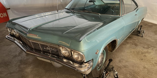 The 1965 Chevrolet Impala used by Duane Earl Pope during the robbery of the Farmer's State Bank in Big Springs, Neb.