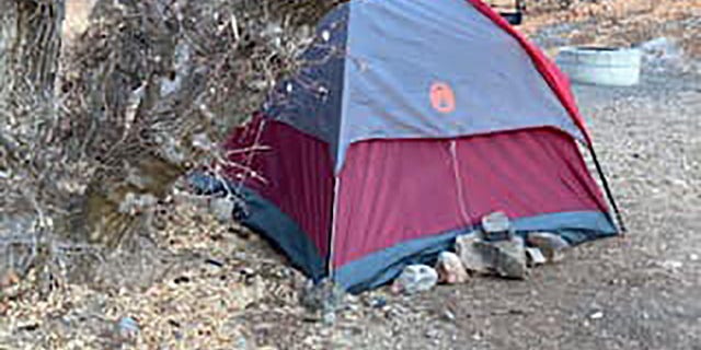 Officials came across what appeared to be an abandoned tent on Sunday during their renewed search for signs of the woman.