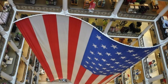 World's largest American flag goes on display at Chicago Macy's